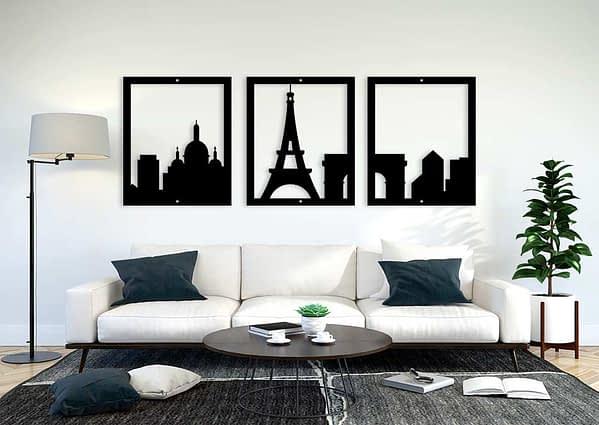 Több részes Párizs fali dekoráció 1