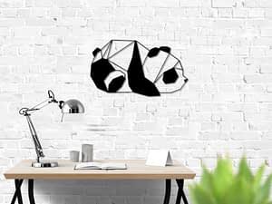 low poly panda modern fali dekoráció lakberendezési webáruház fali dekor