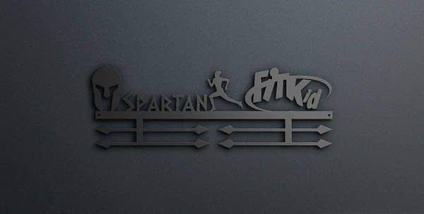 Egyedi falikép és sport éremtartó fali dekoráció ötletek Fitkid és spartan race éremtartó