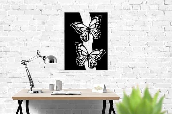 pillangó lakásdekor