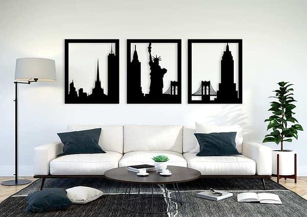 Több részes New York fali dekoráció 1