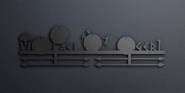Egyedi falikép és sport éremtartó fali dekoráció ötletek 4 trifecta tartó über nagy éremtartó v2