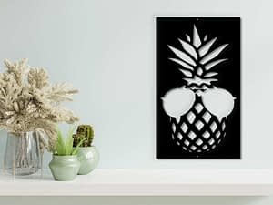 fali dekoráció ananász dekor wall decor fémdekor