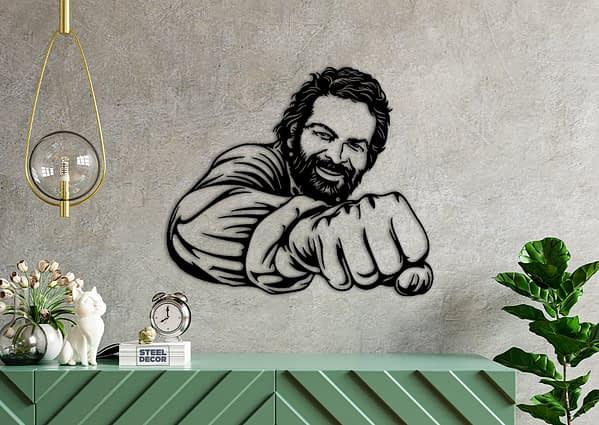 Bud Spencer fém fali dekoráció 1