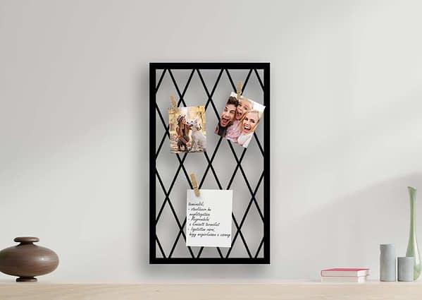 fali fényképtrartó steeldecor fényképtartófalra jegyzettömb fémből a faladra