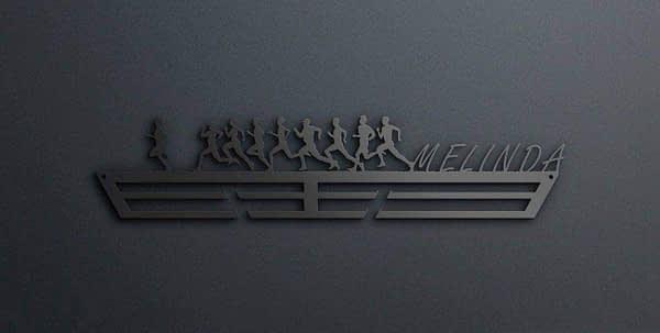 Egyedi falikép és sport éremtartó fali dekoráció ötletek Csapatba futok éremtartó
