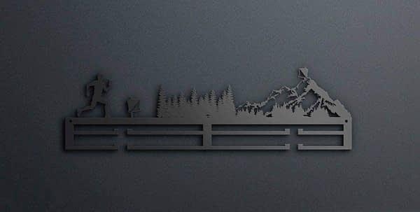 Egyedi falikép és sport éremtartó fali dekoráció ötletek Tájékozódási futás éremtartó