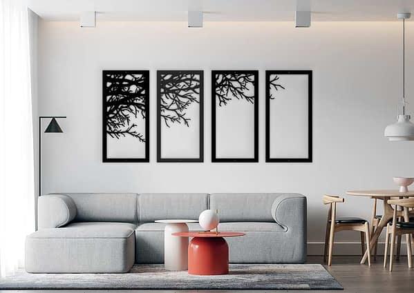 több részes fali fém dekoráció modern fali dekor kép