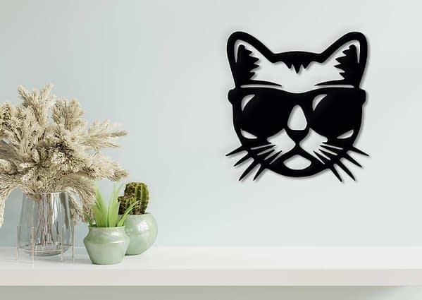 Laza cica fali dekoráció 1