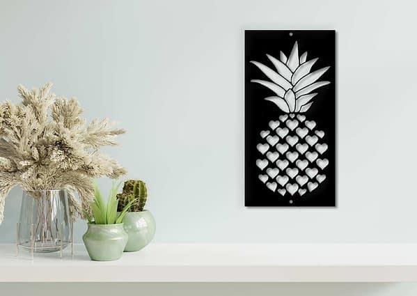 Szíves ananász fali dekoráció 1