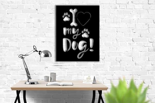 Fém lakás dekor kér kutya imádóknak