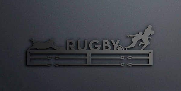 Egyedi falikép és sport éremtartó fali dekoráció ötletek Rugby éremtartó