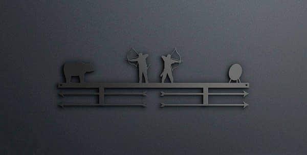 Egyedi falikép és sport éremtartó fali dekoráció ötletek Íjász éremtartó