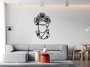 fali dekoráció Frida fém falidekor steeldecor