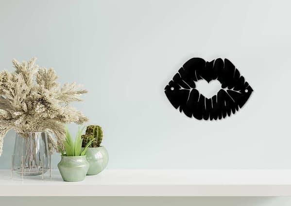 Női száj fém fali dekoráció 5