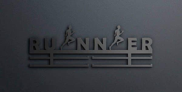 Egyedi falikép és sport éremtartó fali dekoráció ötletek Runner avgyok éremtartó