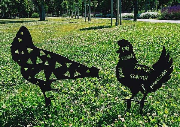 Baromfi kerti dekoráció 1
