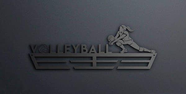 Egyedi falikép és sport éremtartó fali dekoráció ötletek Röplabdázónak éremtartó