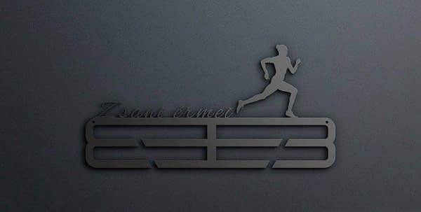 Egyedi falikép és sport éremtartó fali dekoráció ötletek Zsani érmei futós éremtartó