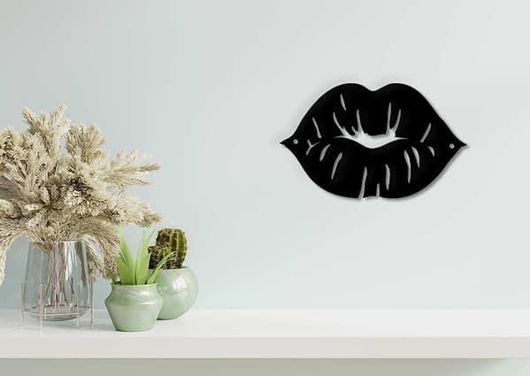 Női száj fém fali dekoráció 3