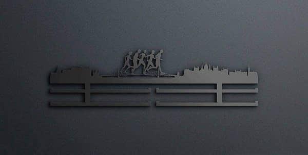 Egyedi falikép és sport éremtartó fali dekoráció ötletek Budapest városi lánchidas éremtrató