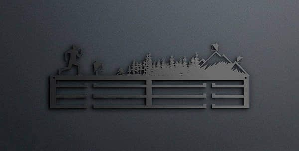 Egyedi falikép és sport éremtartó fali dekoráció ötletek Tájfutós éremtartó