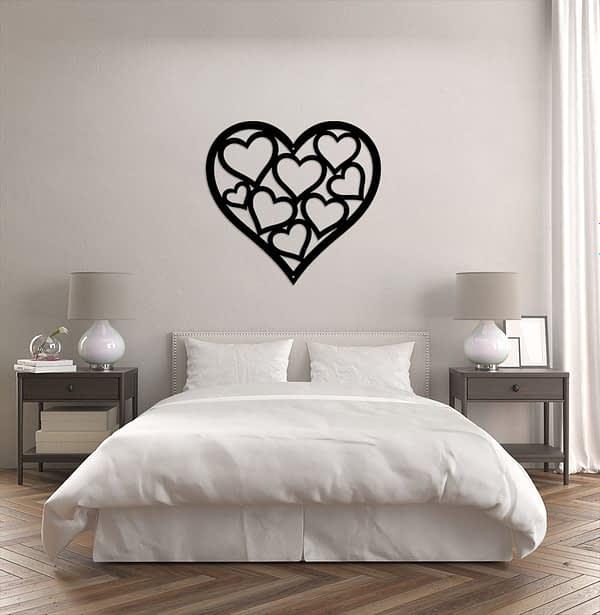 Szívben kis szívek dekor kép a faladra 1
