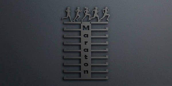 Egyedi falikép és sport éremtartó fali dekoráció ötletek Maraton egyedi álló éremtartó