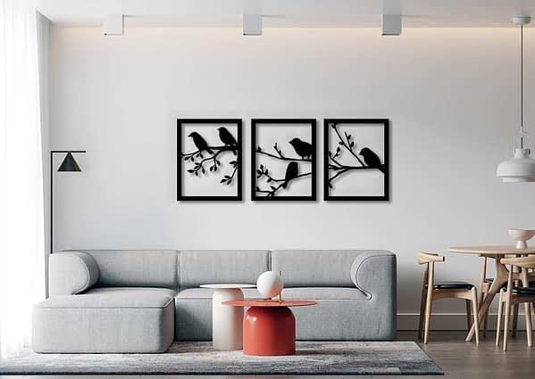 Több részes madaras fali dekoráció 1