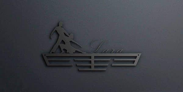 Egyedi falikép és sport éremtartó fali dekoráció ötletek Verseny táncos éremtartó a neveddel
