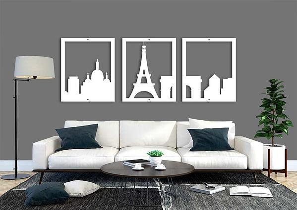 Több részes Párizs fali dekoráció 2