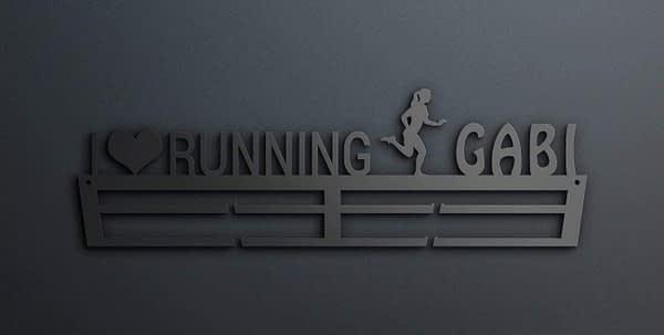 I LOVE RUNNING éremtartó 1